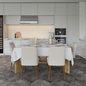 Modern keukenontwerp