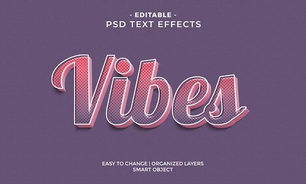 Modern kleurrijk cool vibes-teksteffect