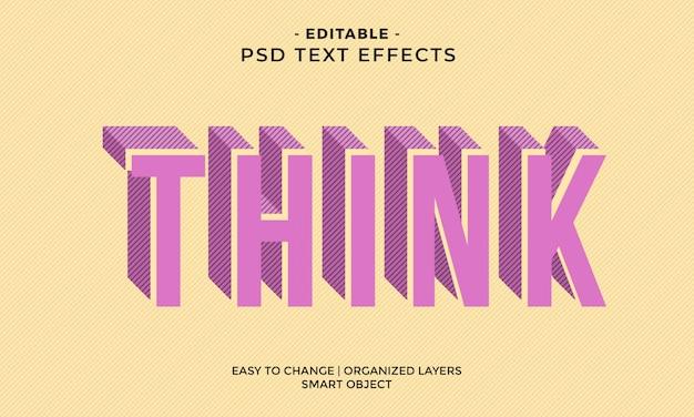 Modern kleurrijk koel denk teksteffect
