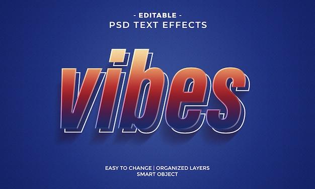 Modern kleurrijk vibes-teksteffect