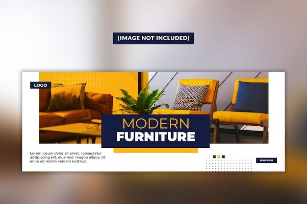 Modern meubilair facebook voorbladsjabloon