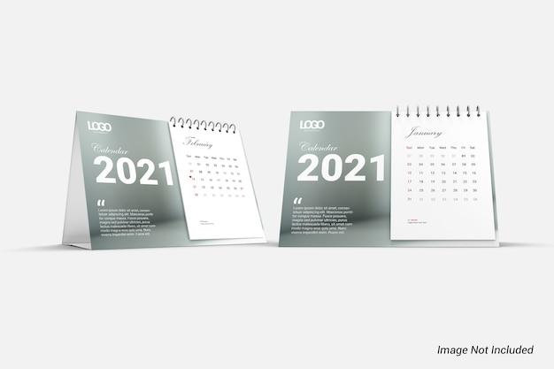 Modern minimalistisch kalendermodel geïsoleerd