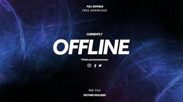 Modern momenteel offline met abstracte golvenachtergrond