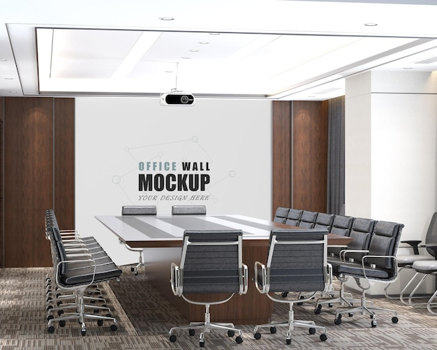 Modern ontwerp van de vergaderruimte wandmodel