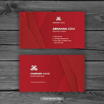 Modern rood visitekaartjeontwerp met bedrijfsconcept