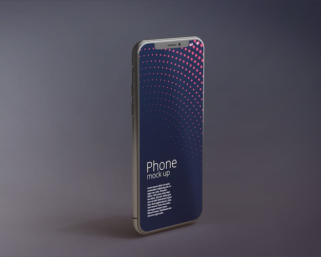 Modern smartphone screen mockup