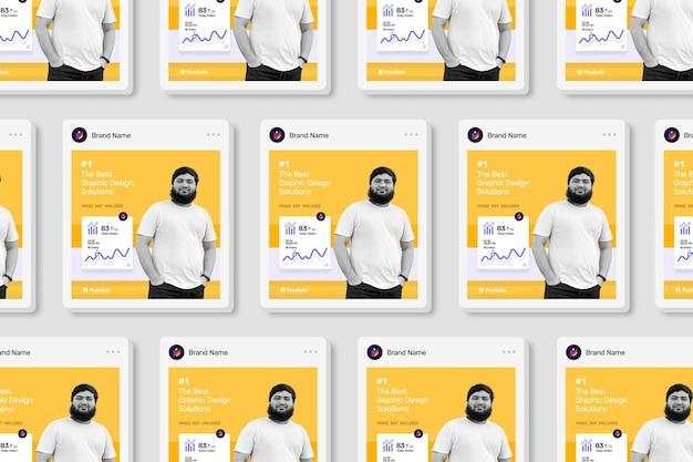 Modern social media vierkant postmodel