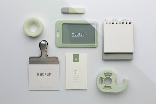 Modern stationery mock-up assortiment