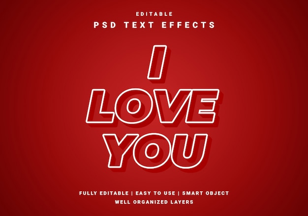 Modern valentijn liefde tekst effect
