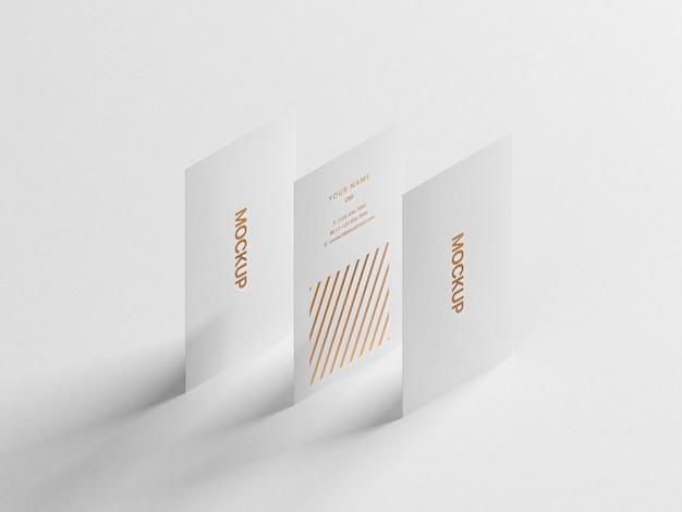 Modern verticaal visitekaartje mockup