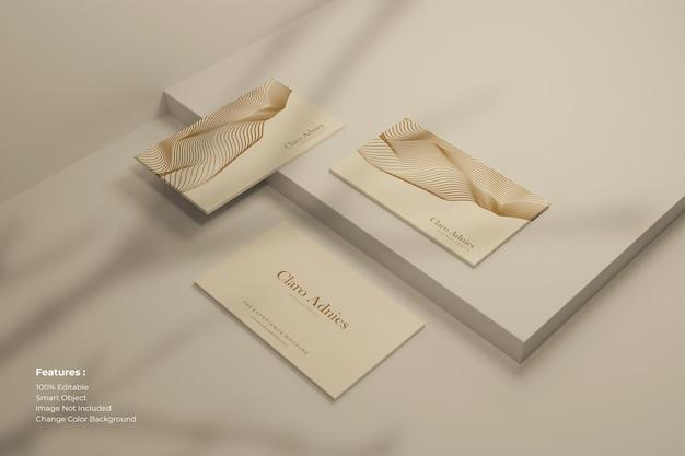 Modern visitekaartje met schaduw