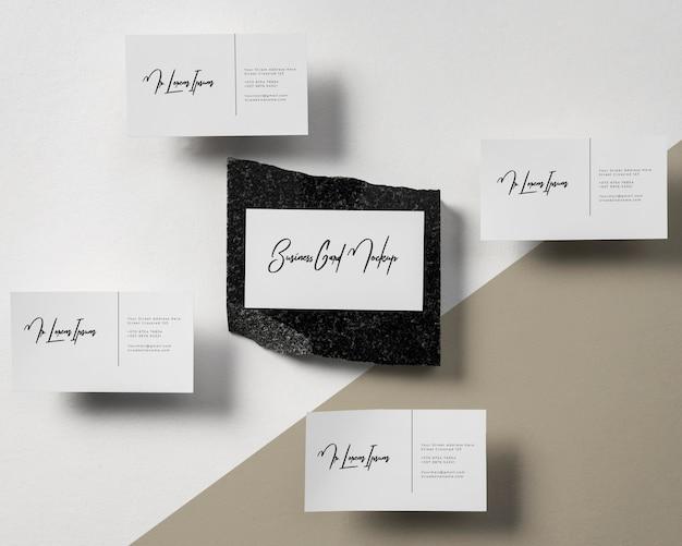 Modern visitekaartje mock-up arrangement