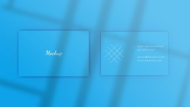 Modern visitekaartje mockup met schaduw
