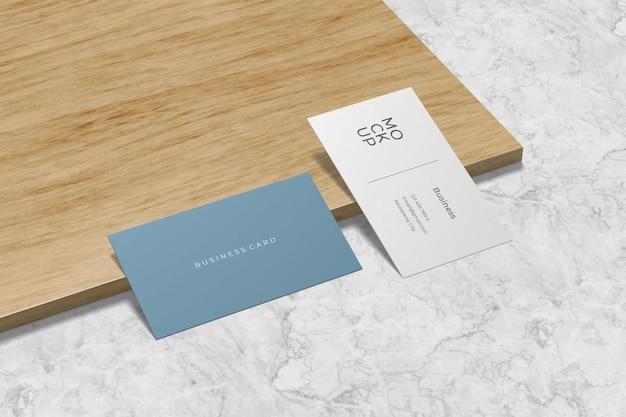 Modern visitekaartje mockup ontwerp