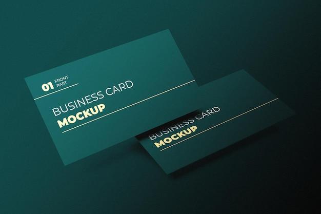 Modern visitekaartje mockup-ontwerp