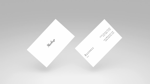 Modern visitekaartje mockup