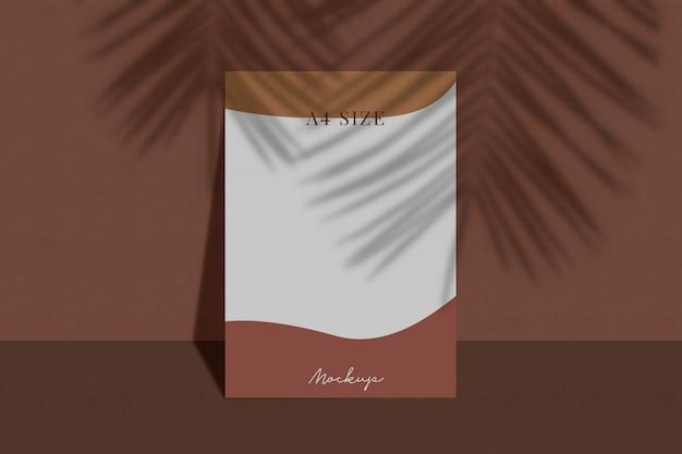 Modern visitekaartjedocument mockup met schaduw