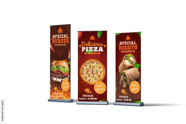 Modern voedsel rollup banner mockup