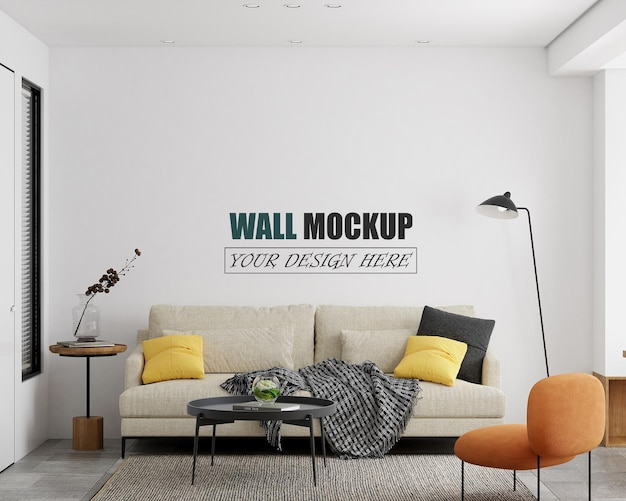 Modern woonkamer interieur wandmodel
