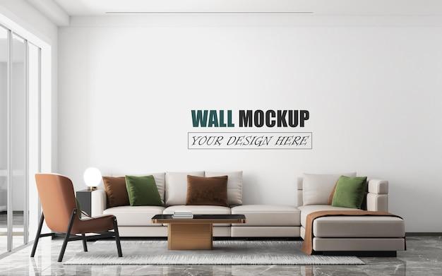 Modern woonkamerontwerp muurmodel