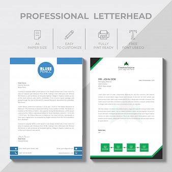 Modern zakelijk bedrijf briefpapier sjabloon