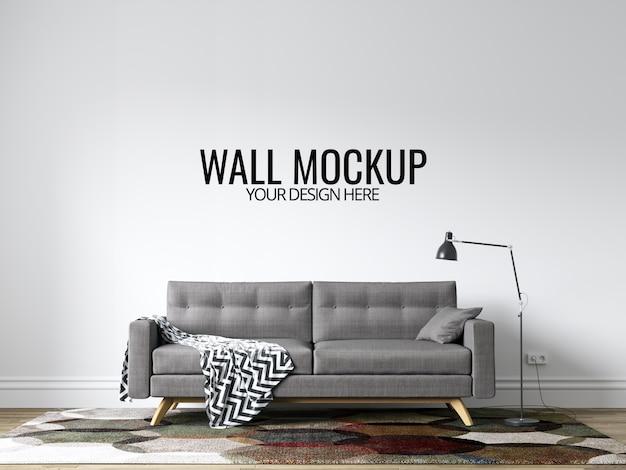 Moderna interior interior wall mockup sfondo con mobili e decorazioni