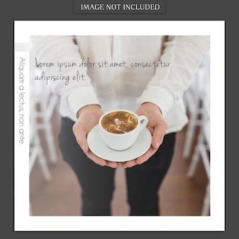 Moderna maqueta de fotos e instagram story template para redes sociales perfil