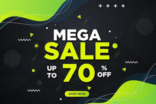 Moderna mega vendita banner sullo sfondo