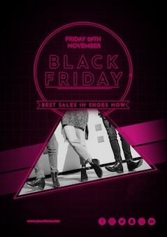 Moderna mockup di copertina del venerdì nero