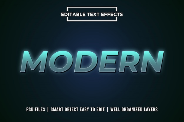 Moderne 3d-tekst stijleffect premium psd