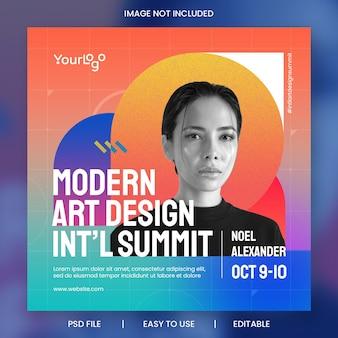 Moderne abstracte evenementpromotie met kleurrijke gradiëntsjabloon