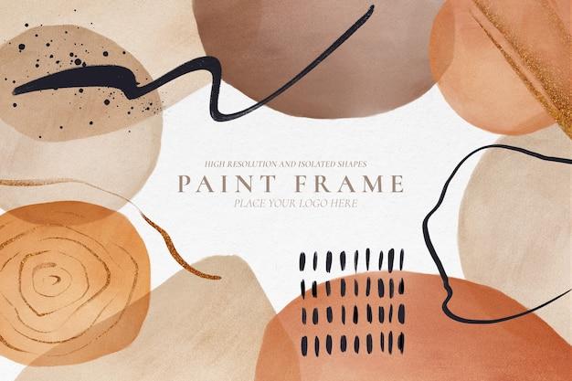 Moderne achtergrond met abstracte geschilderde vormen