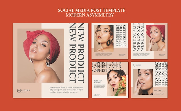 Moderne asymmetrie social media post