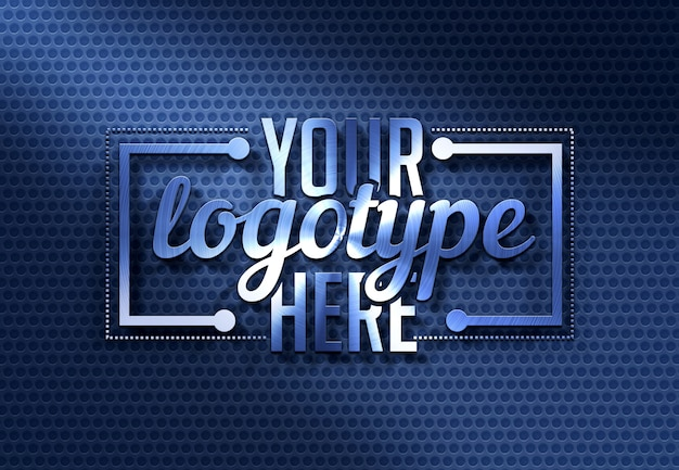 Moderne blauwe logo sjabloon