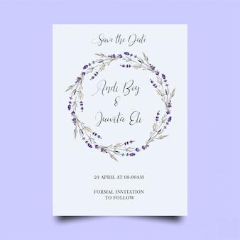 Moderne bruiloft uitnodiging sjabloon