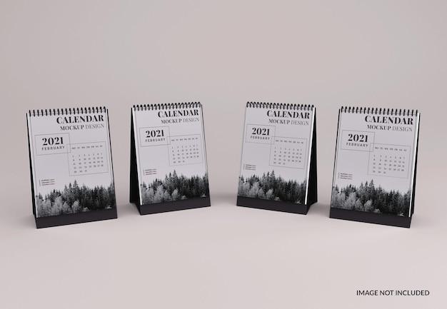 Moderne bureaukalender mockup