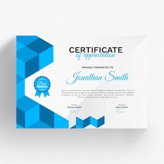 Moderne certificaatsjabloon