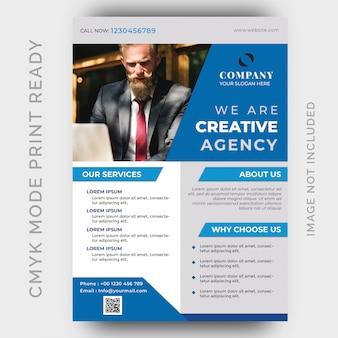 Moderne creatieve agentschap zakelijke flyer ontwerpsjabloon