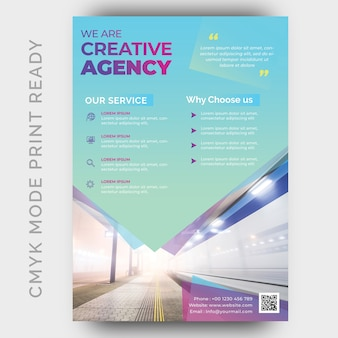 Moderne creative agency business flyer ontwerpsjabloon
