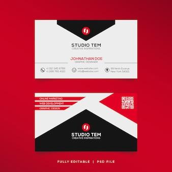 Moderne eccezionali biglietti da visita di forma rossa