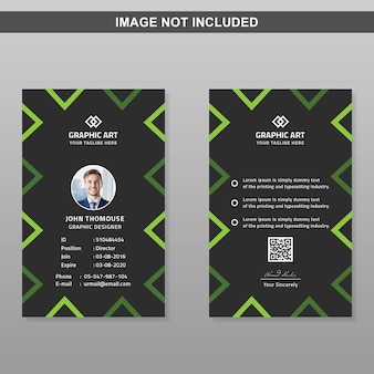 Moderne identiteitskaart-sjabloon