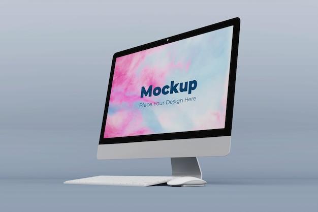 Moderne kantoor computer mockup ontwerpsjabloon