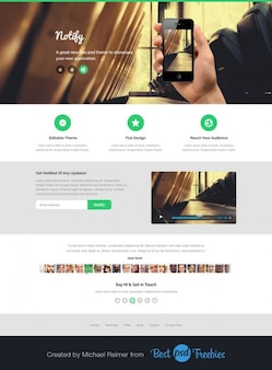 Moderne landing page template