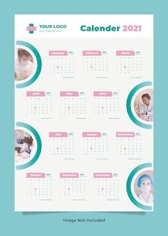 Moderne medische gezondheidsmuurkalender