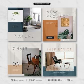 Moderne meubels post-sjabloon collectie