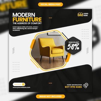 Moderne meubelverkoop social media banner en instagram postontwerp