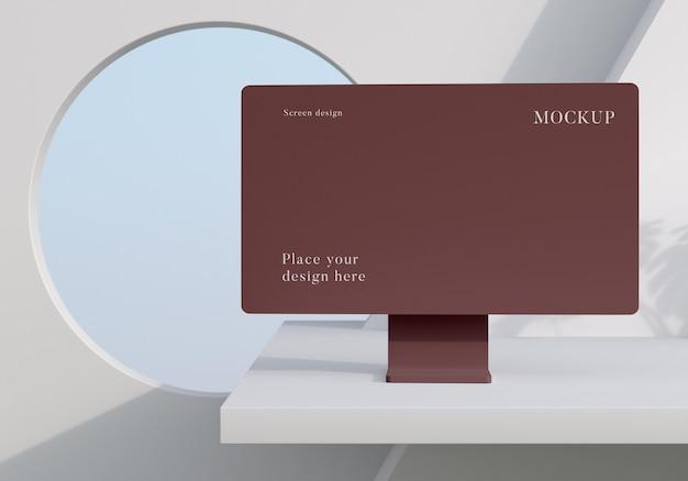 Moderne mock-up desktopopstelling