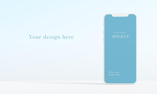 Moderne mock-up smartphone-opstelling