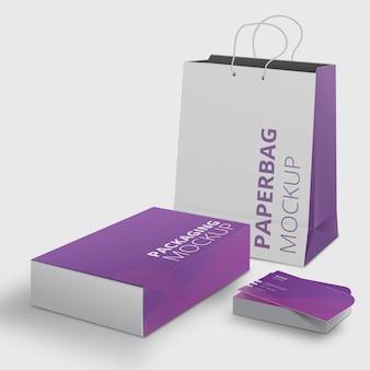 Moderne mockup-set voor modemerken