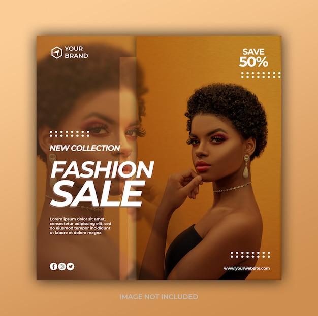 Moderne mode verkoop sociale media post-sjabloon voor spandoek of vierkante flyer